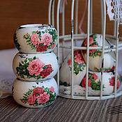 Для дома и интерьера ручной работы. Ярмарка Мастеров - ручная работа Кольца для салфеток ``Розы шебби``. Handmade.
