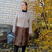 Одежда ручной работы. Ярмарка Мастеров - ручная работа Пальто с каракулем. Handmade.