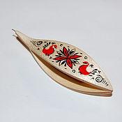Материалы для творчества handmade. Livemaster - original item Wooden Tatting Shuttle With Crochet Hook & Painting Made in Maple. Handmade.