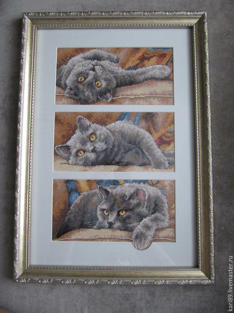 Оформление вышивка кот