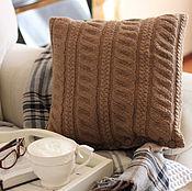 """Для дома и интерьера ручной работы. Ярмарка Мастеров - ручная работа Интерьерная декоративная подушка """"Какао с молоком"""". Handmade."""