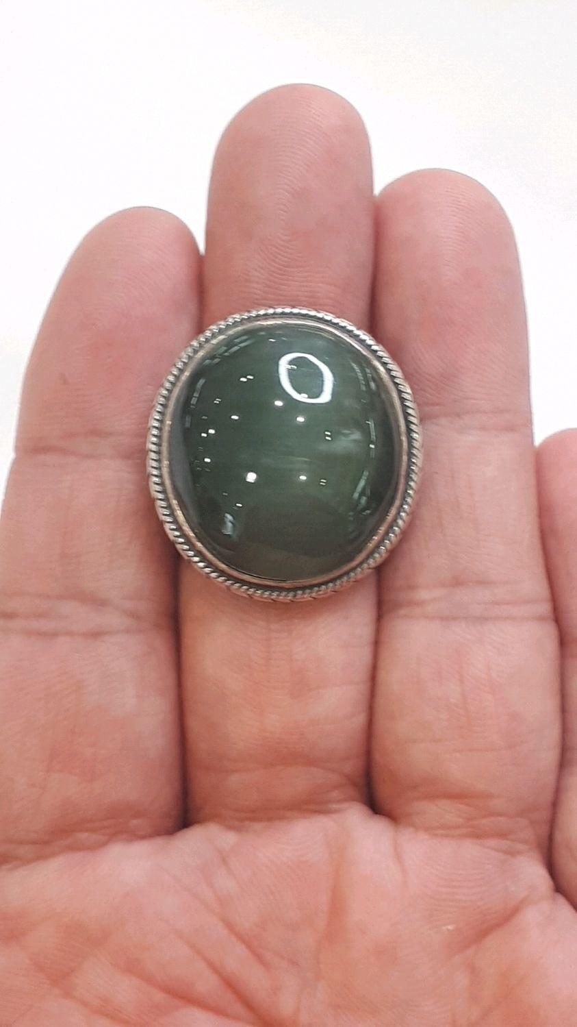 Кольцо с нефритом Волна – купить на Ярмарке Мастеров – LCRRURU | Кольца, Иркутск