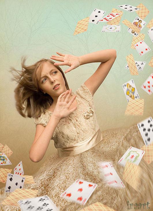 """Фотокартины ручной работы. Ярмарка Мастеров - ручная работа. Купить Фотосказка """"Алиса в стране чудес. Колода карт"""". Handmade. Алиса"""
