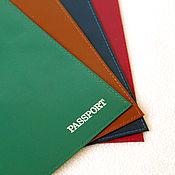 Материалы для творчества ручной работы. Ярмарка Мастеров - ручная работа Обложки на паспорт 4 цвета. Handmade.