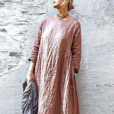 Одежда ручной работы. Ярмарка Мастеров - ручная работа Платья: Льняное платье. Handmade.