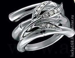кольцо 3860 руб.Прошу обратить внимание что в серебре кольцо делается цельным литьем без камней, на ветках имитация камней. Но смотрится, как настоящие камни.