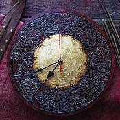 """Для дома и интерьера ручной работы. Ярмарка Мастеров - ручная работа Часы """"Сат Чит Ананда"""". Handmade."""