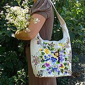 Классическая сумка ручной работы. Ярмарка Мастеров - ручная работа Женская сумка с вышивкой. Handmade.