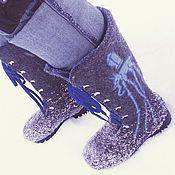 Обувь ручной работы. Ярмарка Мастеров - ручная работа Валенки-ботинки на шнуровке. Handmade.