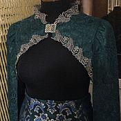 Одежда ручной работы. Ярмарка Мастеров - ручная работа Вечерний костюм Изумруд в серебре. Handmade.
