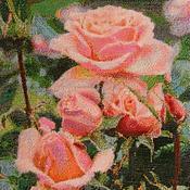 Картины и панно handmade. Livemaster - original item Rose picture beads with addition of swarovski. Handmade.