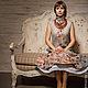 """Платья ручной работы. Ярмарка Мастеров - ручная работа. Купить Платье """"Листопад"""" войлок. Handmade. Серый, леди, нижняя юбка"""
