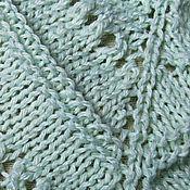 Аксессуары ручной работы. Ярмарка Мастеров - ручная работа Мятный бактус маленький треугольный шарф. Handmade.