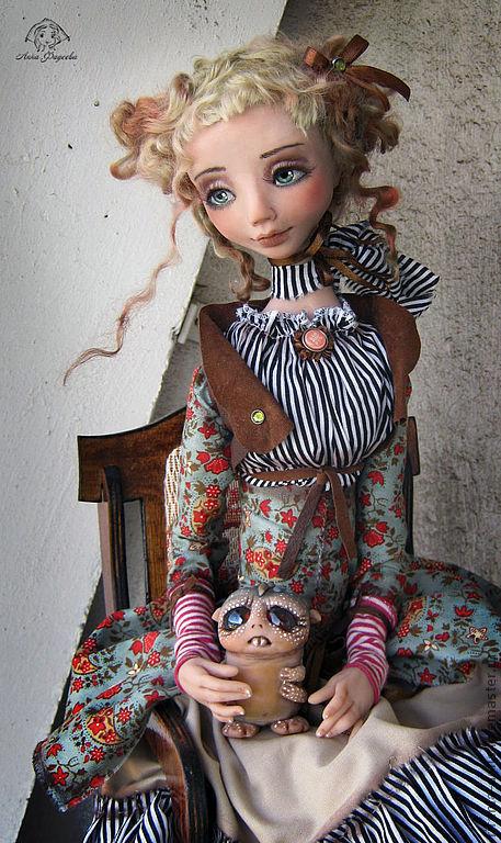 Коллекционные куклы ручной работы. Ярмарка Мастеров - ручная работа. Купить Люсси и Таррик. Handmade. Барышня, сатин