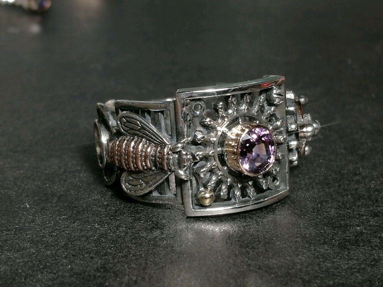 Кольцо со шпинелью (механика) – заказать на Ярмарке Мастеров – DU4AFRU | Кольца, Москва
