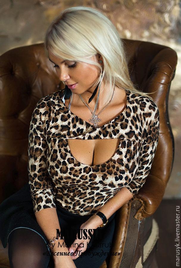 Купить блузку коричневого цвета
