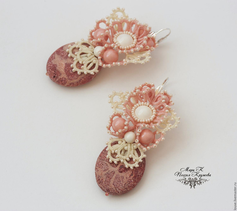 Angel Jane More lace Earrings, handmade e, Earrings, Novosibirsk, Фото №1
