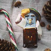 Елочные игрушки ручной работы. Ярмарка Мастеров - ручная работа Ёлочная игрушка из папье маше Мойдодыр. Handmade.