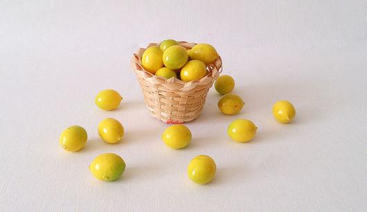 Материалы для флористики ручной работы. Ярмарка Мастеров - ручная работа. Купить Лимончики мини Ф62. Handmade. Лимон, лимоны