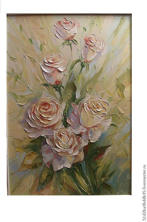 Картины цветов ручной работы. Ярмарка Мастеров - ручная работа. Купить Роза в саду. Handmade. Картина, картина в подарок