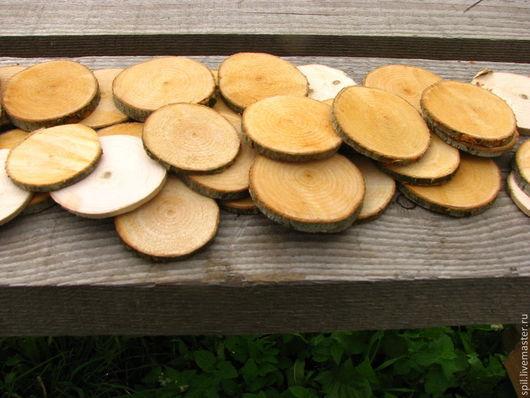 Подарки на свадьбу ручной работы. Ярмарка Мастеров - ручная работа. Купить Поперечные спилы дерева, деревянные кружочки. Handmade. Спилы