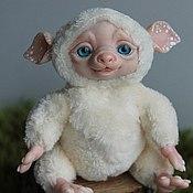 Куклы и игрушки ручной работы. Ярмарка Мастеров - ручная работа Монстрик Сливочный малыш(продан). Handmade.