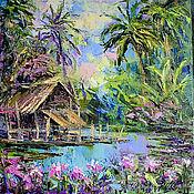 Картины и панно handmade. Livemaster - original item The painting of the tropics