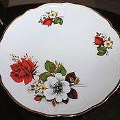 Винтаж ручной работы. Ярмарка Мастеров - ручная работа Красивая, десертная тарелка, с розами, Wundsiedel, Германия,1970-е. Handmade.