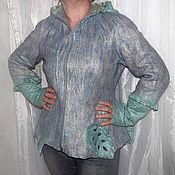 """Одежда ручной работы. Ярмарка Мастеров - ручная работа Валяная кофта куртка """"Мятные листья"""". Handmade."""