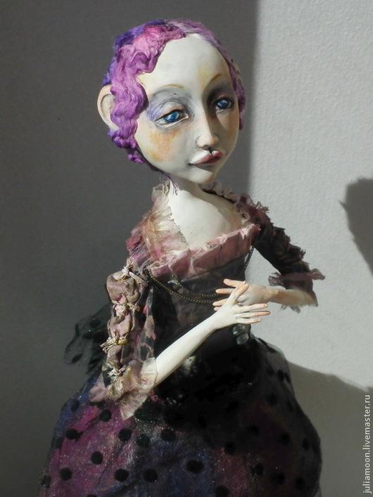 Коллекционные куклы ручной работы. Ярмарка Мастеров - ручная работа. Купить Пиппа. Карнавал Просперо. Handmade. Фиолетовый, цирковая кукла
