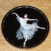 Посуда ручной работы. Ярмарка Мастеров - ручная работа Тарелка декоративная  Балет В ночи (малая). Handmade.