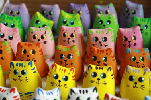 Игрушки животные, ручной работы. Ярмарка Мастеров - ручная работа. Купить Котята. Handmade. Котенок игрушка, глина, акриловые краски