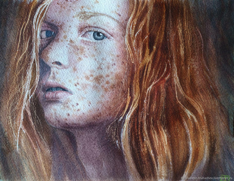 Рыжая девушка, Картины, Ставрополь,  Фото №1