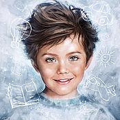 Картины и панно ручной работы. Ярмарка Мастеров - ручная работа Детский портрет по фото. Handmade.