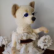 Куклы и игрушки ручной работы. Ярмарка Мастеров - ручная работа собака игрушка тедди Собачка Соня и одуванчики. Handmade.