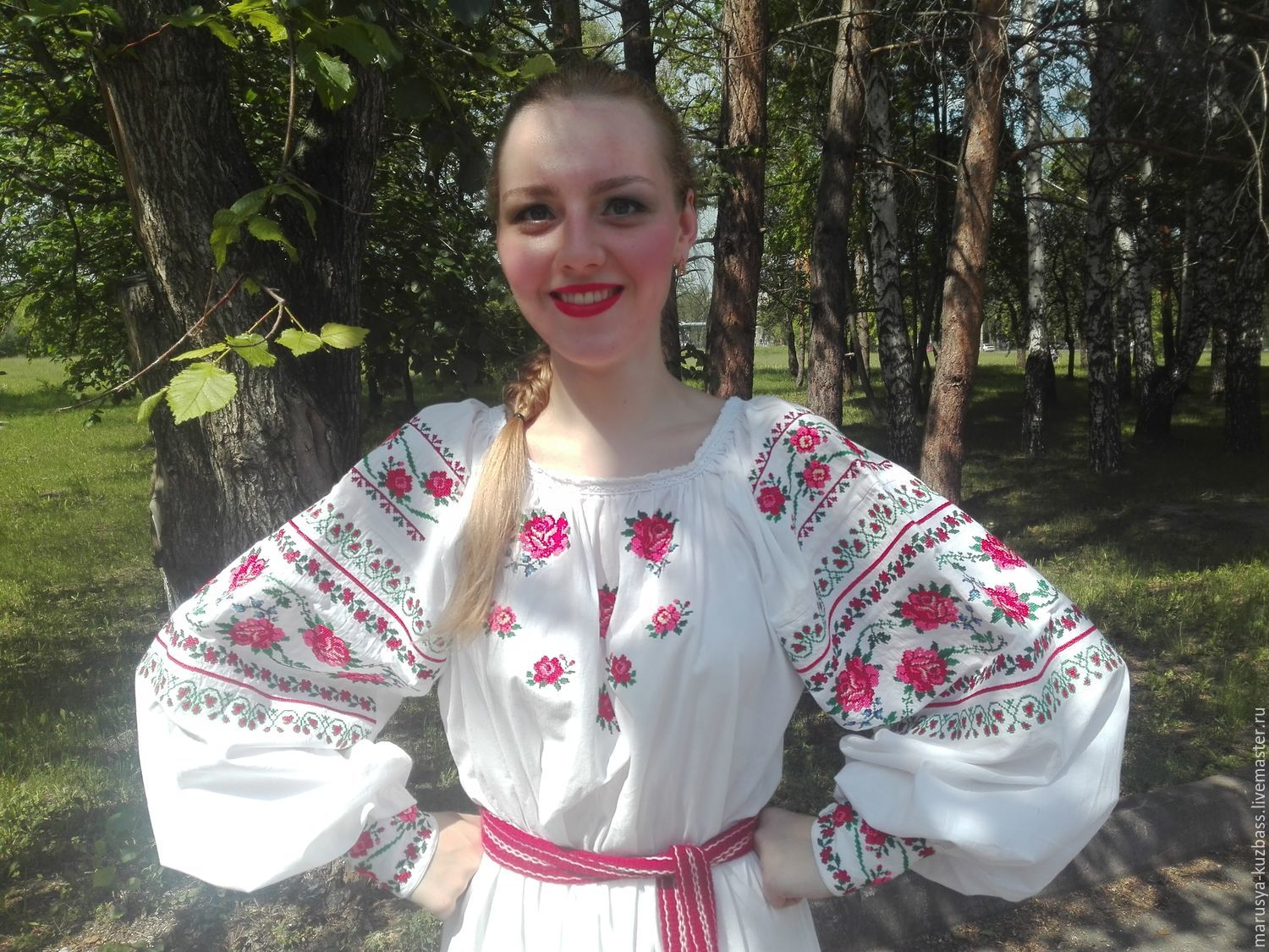 Embroidered shirt for girls, Shirts, Kemerovo,  Фото №1