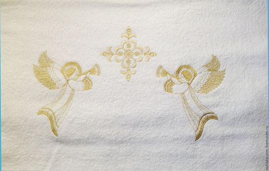 """Крестильные принадлежности ручной работы. Ярмарка Мастеров - ручная работа. Купить Полотенце крестильное """" Светлый ангел """". Handmade."""