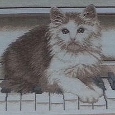 """Картины и панно ручной работы. Ярмарка Мастеров - ручная работа картина """"Кот музыкант"""". Handmade."""