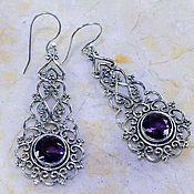 Материалы для творчества handmade. Livemaster - original item a pair of openwork pendants for earrings with amethysts.. Handmade.