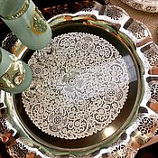 Посуда handmade. Livemaster - original item Tray large openwork silver Germany. Handmade.