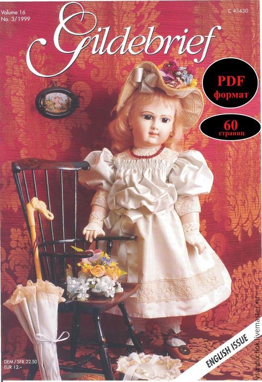 Куклы и игрушки ручной работы. Ярмарка Мастеров - ручная работа. Купить Журнал GB-3/99 шитьё куклам фото-МК+выкройки PDF. Handmade.