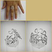 Украшения handmade. Livemaster - original item Ring Flowers. Art Nouveau patterns.. Handmade.