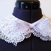 Сувениры и подарки handmade. Livemaster - original item Pearl collar universal white lace. Handmade.