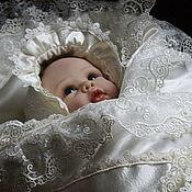 """Работы для детей, ручной работы. Ярмарка Мастеров - ручная работа Одеяло   на выписку  для новорожденного  """"вдохновение"""". Handmade."""