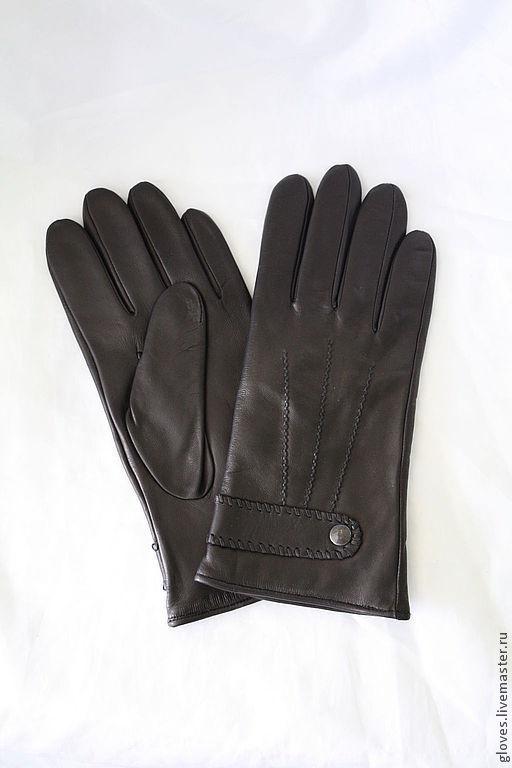 Варежки, митенки, перчатки ручной работы. Ярмарка Мастеров - ручная работа. Купить Перчатки кожаные мужские на шерстяной подкладке. Handmade.