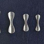 Заготовки для украшений ручной работы. Ярмарка Мастеров - ручная работа Концевики серебряные 925 пробы для браслетов, цепей и шнурков. Handmade.