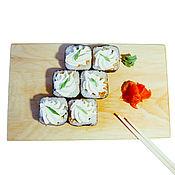 Посуда handmade. Livemaster - original item Japanese plate for SUSHI Siberian Cedar cheese plate #RD3. Handmade.