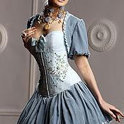 """Одежда ручной работы. Ярмарка Мастеров - ручная работа Корсет шелковый """"Версаль"""" утягивающий, ручная вышивка. Handmade."""
