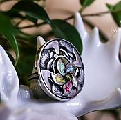 Украшения ручной работы. Ярмарка Мастеров - ручная работа Кольцо серебро Цветик-семицветик. Handmade.