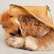 Сумки и аксессуары ручной работы. Ярмарка Мастеров - ручная работа Меховая сумка «Sunny fox». Handmade.